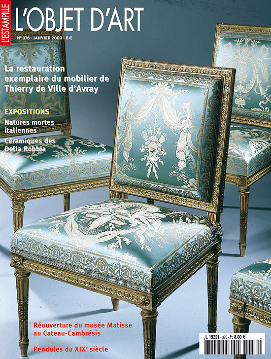 la restauration du mobilier de thierry l 39 objet d 39 art n 376. Black Bedroom Furniture Sets. Home Design Ideas